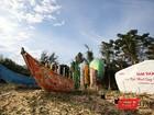 """Ngắm """"con đường thuyền thúng"""" độc đáo ở Quảng Nam"""