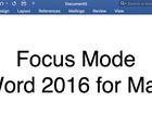 Hướng dẫn bật Focus Mode trên Word 2016 cho Mac để tập trung hơn