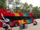 """Hà Nội chạy thử xe buýt 2 tầng """"mui trần"""""""