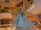 Hoa hậu Mỹ Linh lộng lẫy trong thiết kế đầm công chúa tại Đài Bắc