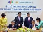"""Hợp tác chiến lược giữa hai """"ông lớn"""" Vietnam Airlines và FPT"""