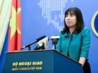 Việt Nam lên tiếng việc tàu Mỹ áp sát Đá Vành Khăn ở Trường Sa