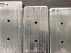 Hình ảnh 3 khuôn đúc cho thấy kích thước các phiên bản iPhone 2017