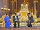 Chủ tịch nước Trần Đại Quang hội kiến Quốc vương Campuchia Norodom Sihamoni