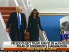 Video: Ông Donald Trump và gia đình đã đến Washington bằng máy bay của quân đội