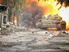 T-72 Nga bị bắn cháy, phe thánh chiến cầm chân quân Syria ở ngoại vi Damascus