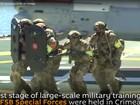 Đặc nhiệm Nga nhảy dù, lặn ngầm tấn công khủng bố (video)