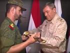 """Tướng chỉ huy """"Hổ Syria"""" nhận kiếm danh dự Nga (video)"""