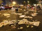 Trung tâm Sài Gòn ngập rác sau giao thừa