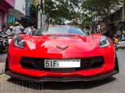'Quỷ đỏ' Chevrolet Corvette C7 Z06 giá 7 tỉ đồng dạo phố Sài Gòn