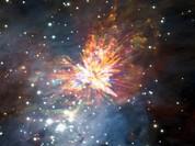 Vụ nổ sáng rực vũ trụ do hai sao trẻ va đập vào nhau