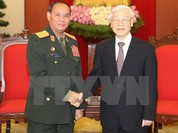 Tổng Bí thư tiếp đoàn đại biểu Quân đội Nhân dân Lào