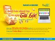 Thanh toán nhanh tay - nhận ngay tài lộc với NamA Bank