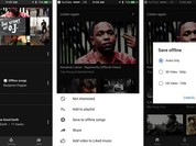YouTube Music cho phép lưu bài hát, album và danh sách nhạc để nghe ngoại tuyến