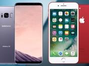 """Thao tác trên màn hình iPhone 7 """"chưa đủ tuổi"""" để so với Galaxy S8?"""