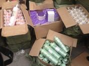 Thu giữ hàng nghìn mỹ phẩm nhập lậu gần Cảng Hà Nội