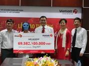 Vietlott trao giải Jackpot trị giá gần 70 tỷ đồng