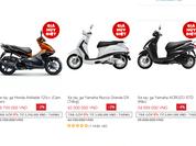 Lazada bán xe máy chênh giá hàng triệu đồng