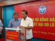 Bộ TT&TT ủng hộ đồng bào miền Trung bị lũ lụt