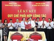 Ban cán sự Đảng Bộ TT&TT và Đảng ủy Khối DN TƯ ký kết quy chế phối hợp công tác