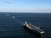 Máy bay săn ngầm Nga áp sát tàu sân bay Mỹ ở vùng biển Triều Tiên