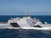 Clip Mỹ hạ thuỷ chiến hạm tác chiến ven bờ lớp Freedom mới nhất