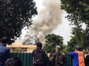 Cháy Cung Thiếu nhi, khói bao phủ trung tâm Hà Nội