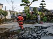 Khung cảnh hoang tàn sau 2 trận động đất ở tỉnh Kumamoto