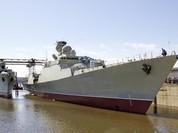 Hình ảnh tàu chiến Gepard thứ 3 của Việt Nam hạ thuỷ ở Nga