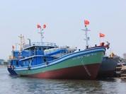 """Hạ thủy tàu cá vỏ thép """"tự thiết kế"""" tại Đà Nẵng"""