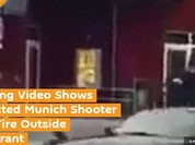 Video sốc: Thời điểm nghi can nổ súng bên ngoài nhà hàng ở Munich, Đức