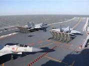 Tàu sân bay Liêu Ninh của Trung Quốc tham gia diễn tập bắn đạn thật