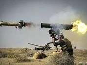 """Tên lửa Nga """"nướng"""" 120 xe tăng, xe bom... trong cuộc tấn công thành trì IS"""