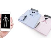 Đo may áo sơ mi bằng ứng dụng di động