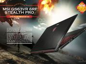 MSI Stealth Pro - laptop chơi game mỏng nhất 2016