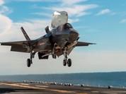 Máy bay F-35B của Mỹ cất cánh thử từ tàu đổ bộ trên biển