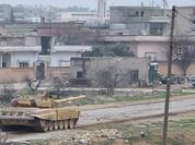 Binh sĩ Syria đã cắm cờ chiến thắng trên thị trấn Al'-Bakhchoy