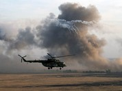 Clip...choáng ở Syria: Trực thăng Mi-8  vẫn bay sau khi dính tên lửa của IS