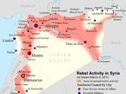 """Tướng Nga công khai bản đồ bí mật về IS và đối lập """"ôn hòa"""""""