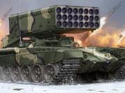 Clip: Kinh hoàng pháo phản lực TOS-1 Nga gầm thét, dội lửa phiến quân Syria