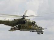 Video trực thăng Mi-24 quân đội Syria ném bom chiến binh IS