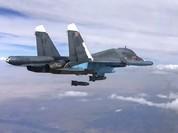 """Su-34 """"Thú mỏ vịt"""" không kích kinh hoàng ở Syria"""