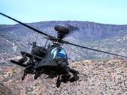 """""""Thần chết"""" Apache Mỹ bay theo đoàn xe IS nhưng...không làm gì"""