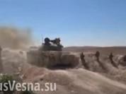Tăng và pháo phản lực Syria dội lửa trận địa IS