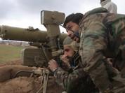 Binh sĩ Syria săn khủng bố trên vùng núi Latakia bằng tên lửa Konkurs