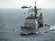 Cụm tàu sân bay chiến đấu Mỹ phô diễn uy lực ở Biển Đông