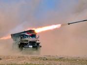 Video: Cận cảnh hỏa lực kinh hoàng pháo phản lực Grad ở Latakia