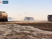 Không quân Nga thiêu đốt đoàn xe chở dầu của IS (Video)