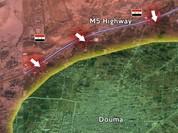 Quân đội Syria tấn công dọc đường cao tốc Harasta