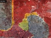 Video chiến sự Syria: Trực thăng Nga săn đuổi xe phiến quân IS